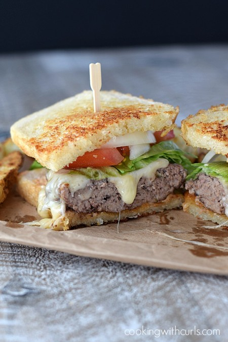 Skip the drive-thru and make these delicious Frisco Burgers at home instead | cookingwithcurls.com