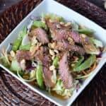 Ginger Beef Bok Choy Salad