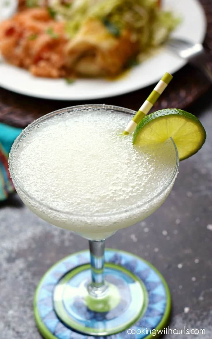 Frozen Margaritas go perfectly with any Mexican inspired meal! cookingwithcurls.com