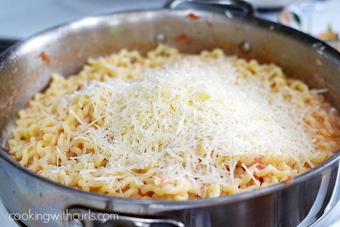 Fusilli al Pomodoro Parmesan cookingwithcurls.com