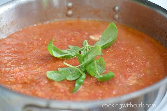 Fusilli al Pomodoro basil cookingwithcurls.com