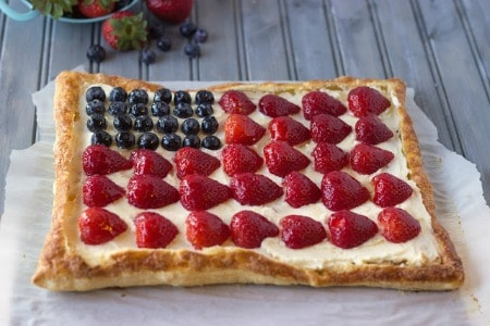 Patriotic Berry Tart450