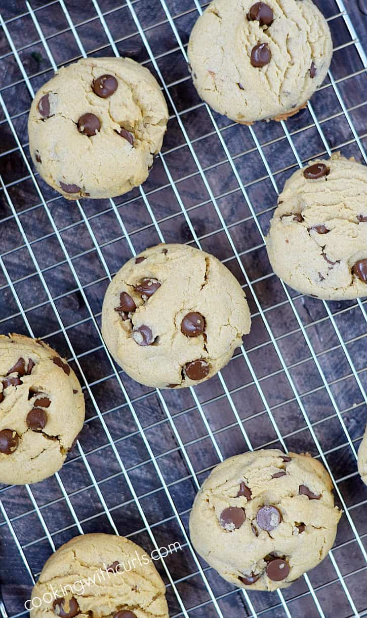 Peanut Butter Chocolate Chip Cookies fresh out of the oven, and straight into you belly | cookingwithcurls.com