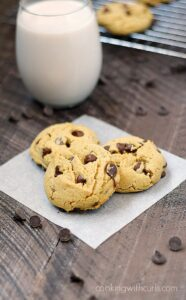 Peanut butter and chocolate come together to create the perfect soft Peanut Butter Chocolate Chip Cookies! cookingwithcurls.com