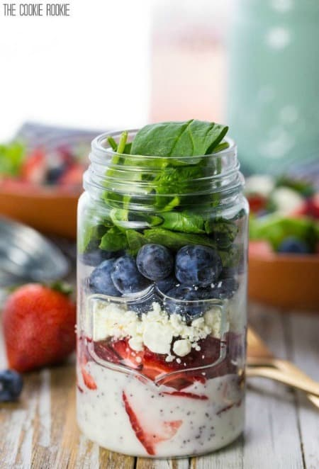 Red White and Blue Mason Jar Salad450