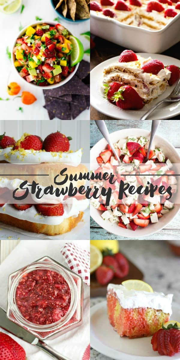 Summer Strawberry Recipes | cookingwithcurls.com #feastNdevour