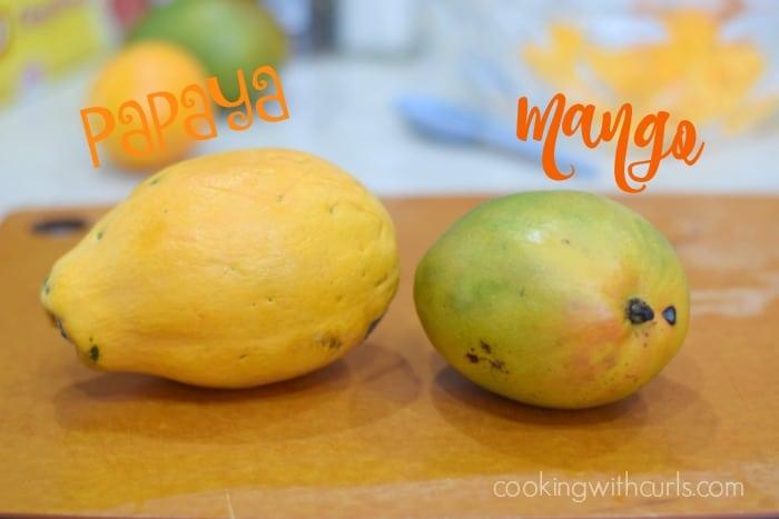 Papaya Mango Salsa fruit cookingwithcurls.com