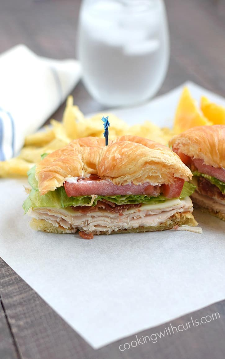Skip your boring turkey sandwich, and try a Turkey Croissant Sandwich instead | cookingwithcurls.com