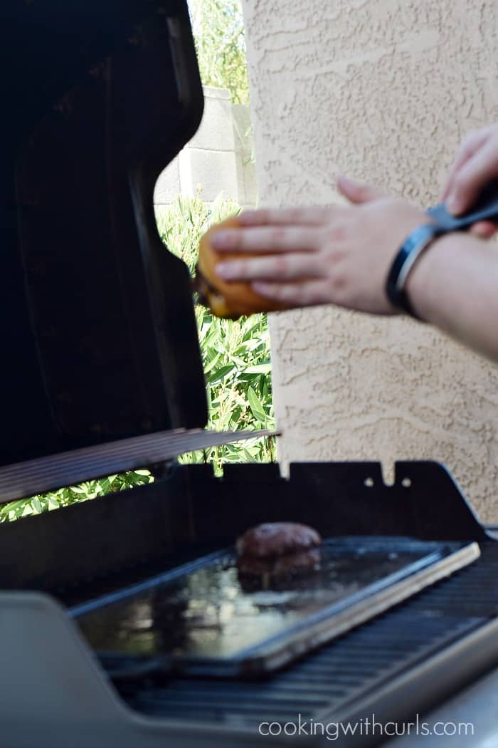 Smashed Burgers drain cookingwithcurls.com