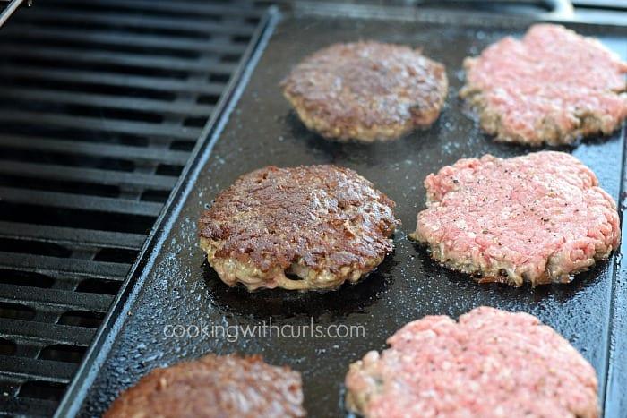 Smashed Burgers flip cookingwithcurls.com