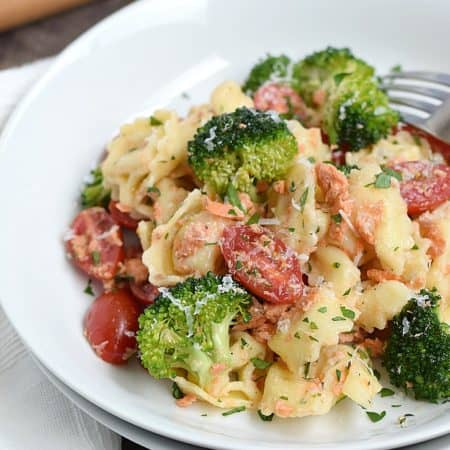 Tortellini Salmon Salad