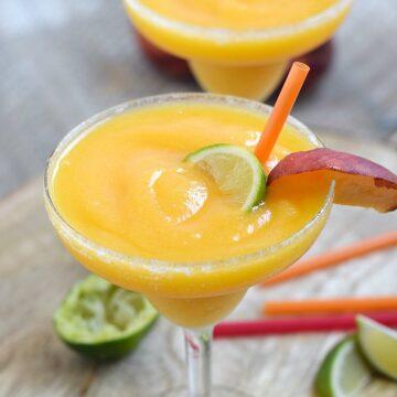 Frozen Peach Margaritas
