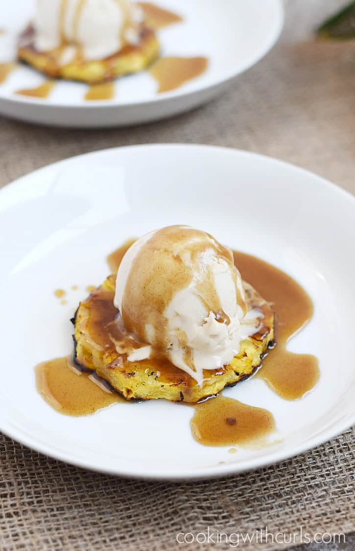 Grilled Pineapple Sundae with Coconut Rum Caramel Sauce ...