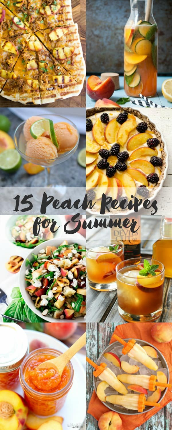 15 Peach Recipes for Summer | cookingwithcurls.com #feastNdevour