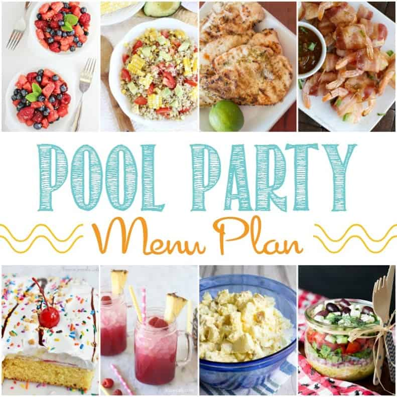 Pool Party Menu Plan | cookingwithcurls.com