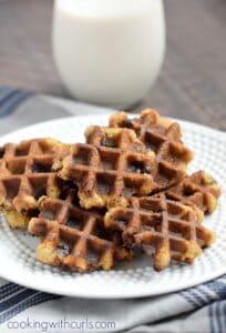 Chocolate Chip Waffled Cookies