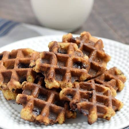 There's no need to turn on the oven when you make these yummy Chocolate Chip Waffled Cookies in your waffle iron   cookingwithcurls.com