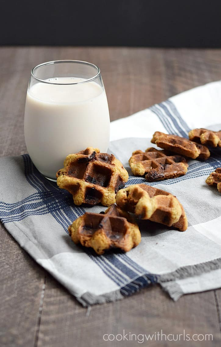 These Chocolate Chip Waffled Cookies are a fun twist on an old classic that won't heat up your house | cookingwithcurls.com