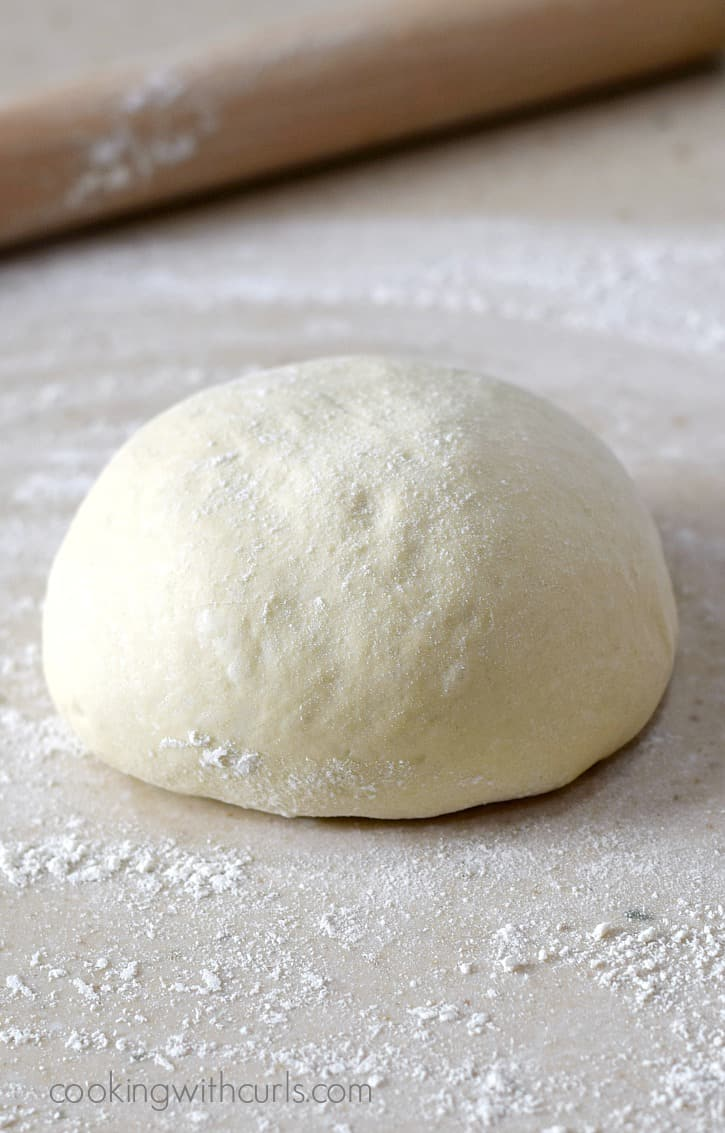 Italian Pizza Dough Cooking With Curls