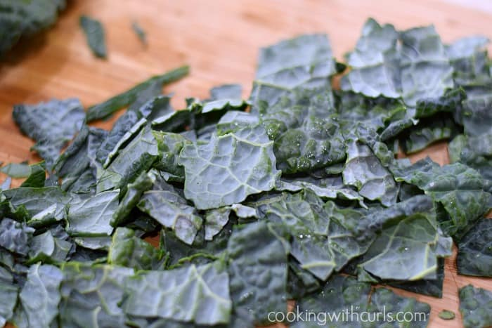 Black Kale Salad strips cookingwithcurls.com