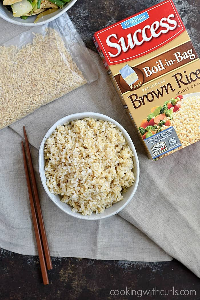 Chicken Teriyaki with Success® Boil-in-Bag Rice | cookingwithcurls.com #Back2SchoolSuccess #ad