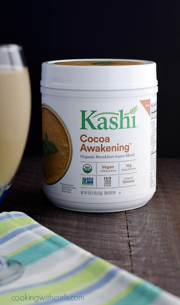 Chocolate Peanut Butter Protein Smoothie made with Kashi Cocoa Awakening®   cookingwithcurls.com