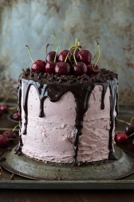 Fresh-Cherry-Cake-with-Chocolate-Ganache-6