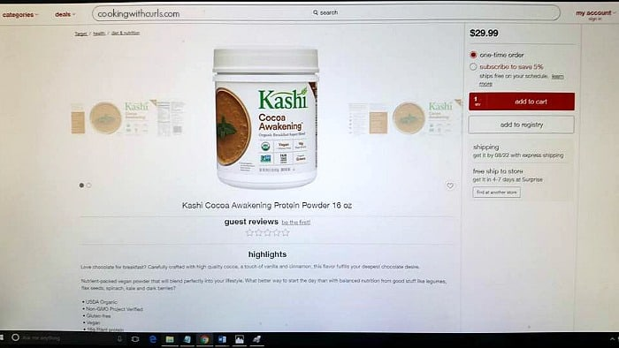 Kashi Protein Powder at Target.com | cookingwithcurls.com