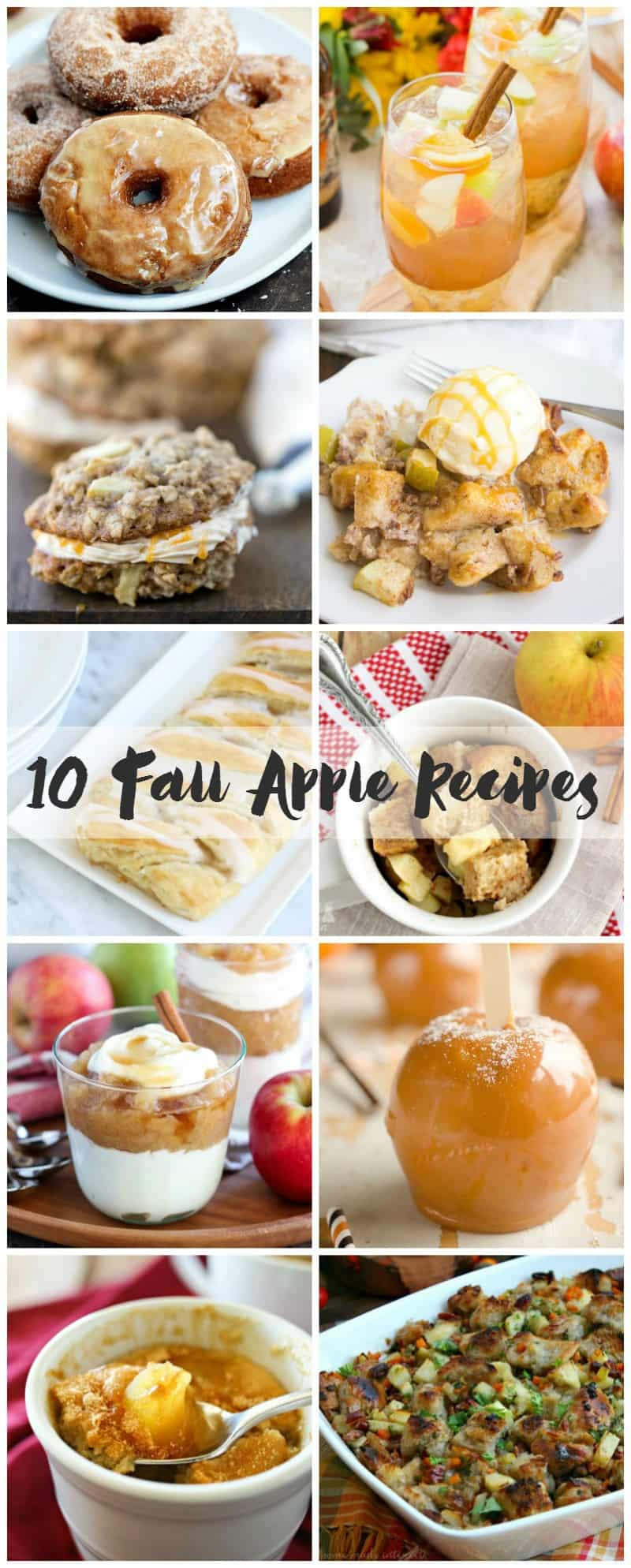 10 Fall Apple Recipes | cookingwithcurls.com #feastndevour