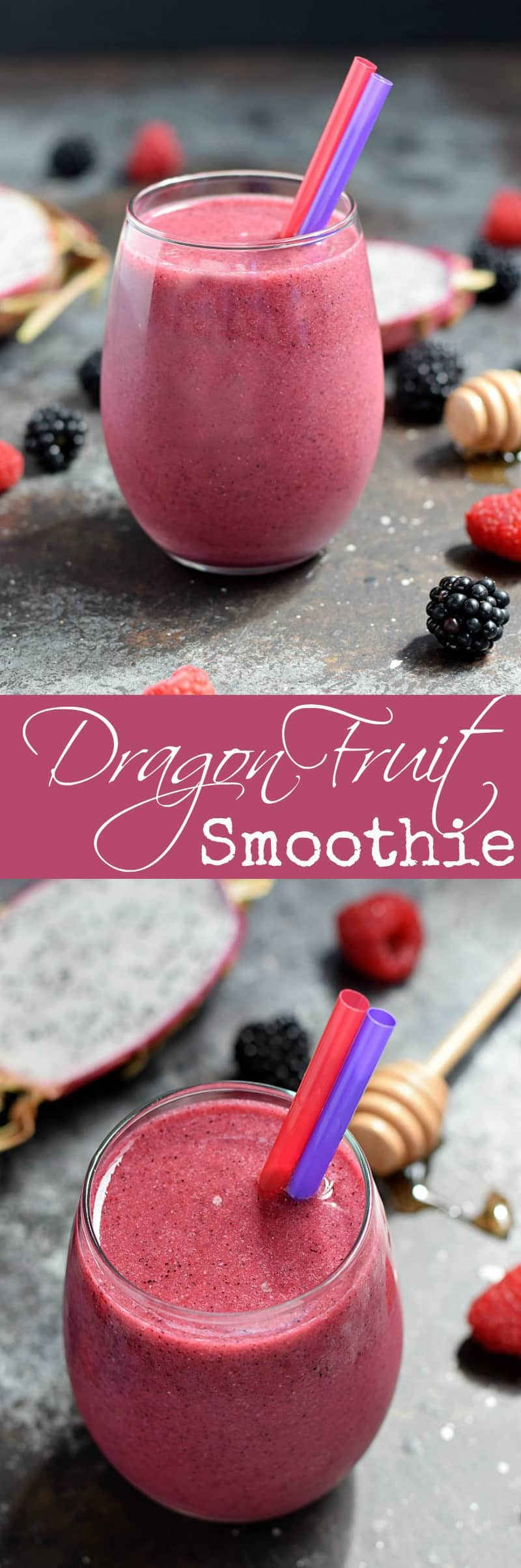 Change up your morning routine with a Dragon Fruit Smoothie loaded with berry flavor and vitamins to start your day off right | cookingwithcurls.com