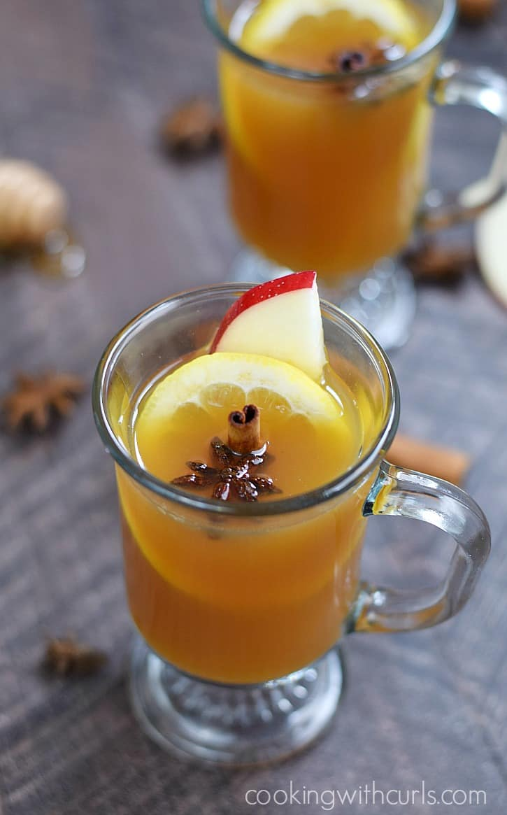 Hot Spiced Cider Toddy on a cool fall evening | cookingwithcurls.com