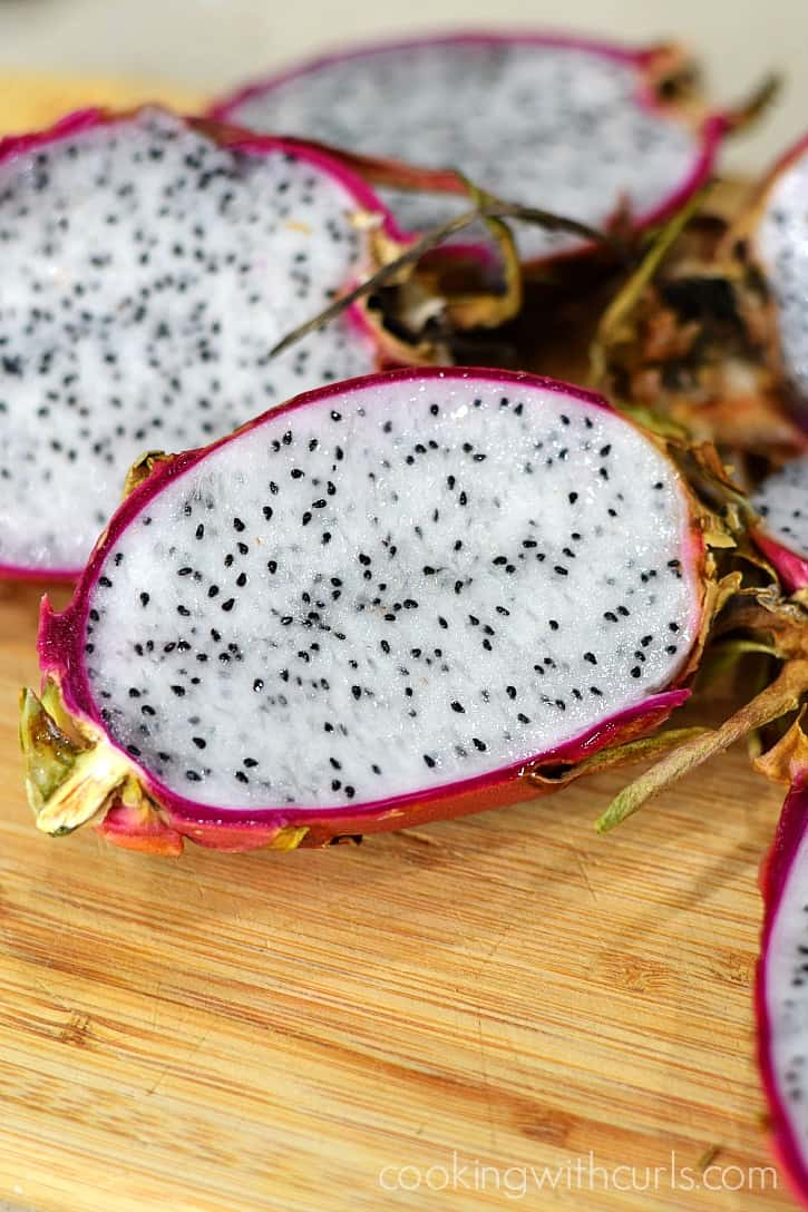 Inside of Dragon Fruit | cookingwithcurls.com
