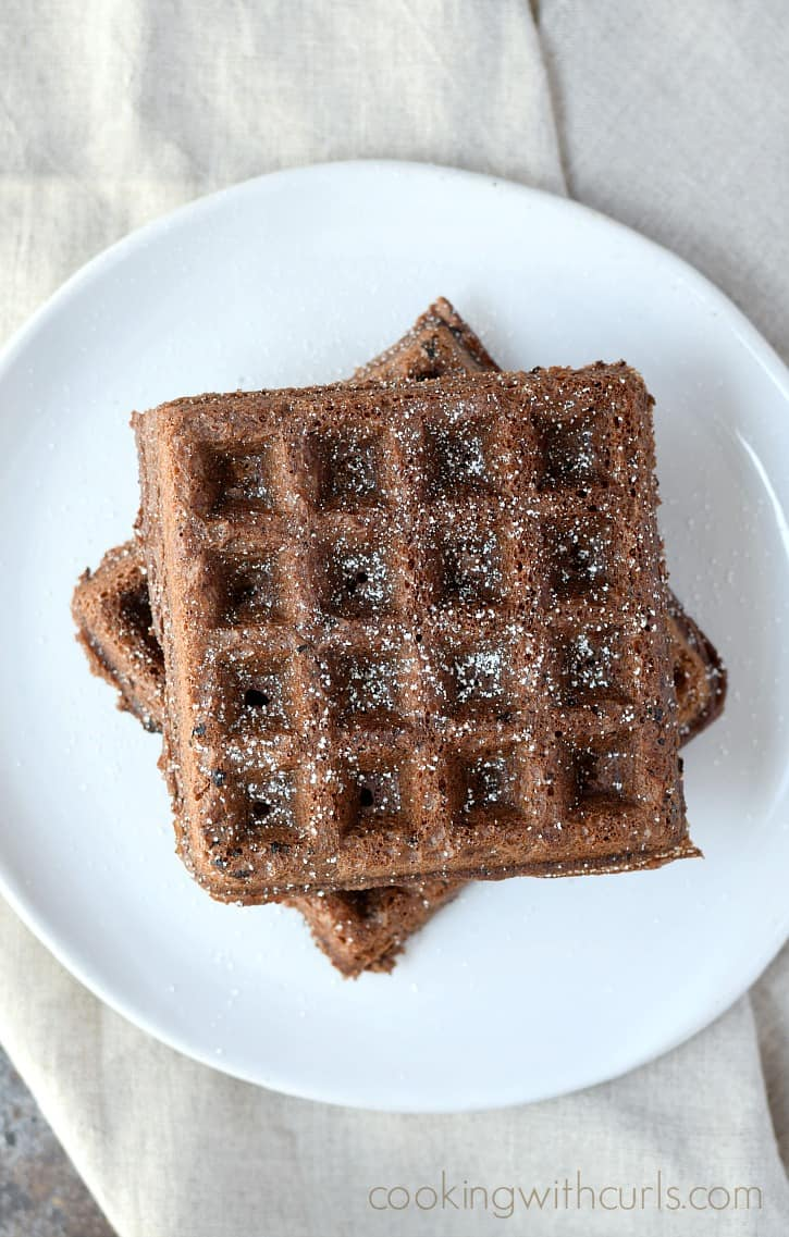 Waffled Brownies hot and delicious right out of the waffle iron | cookingwithcurls.com