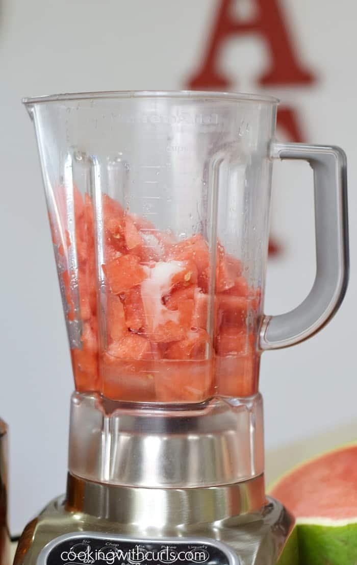 Watermelon Margarita Sorbet blender cookingwithcurls.com