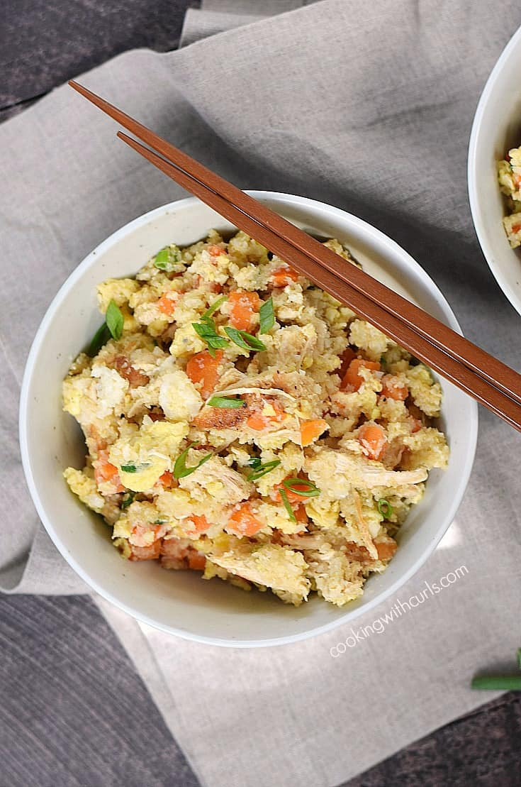 An easy Chicken Fried Rice recipe that is worth skipping the takeout for! cookingwithcurls.com