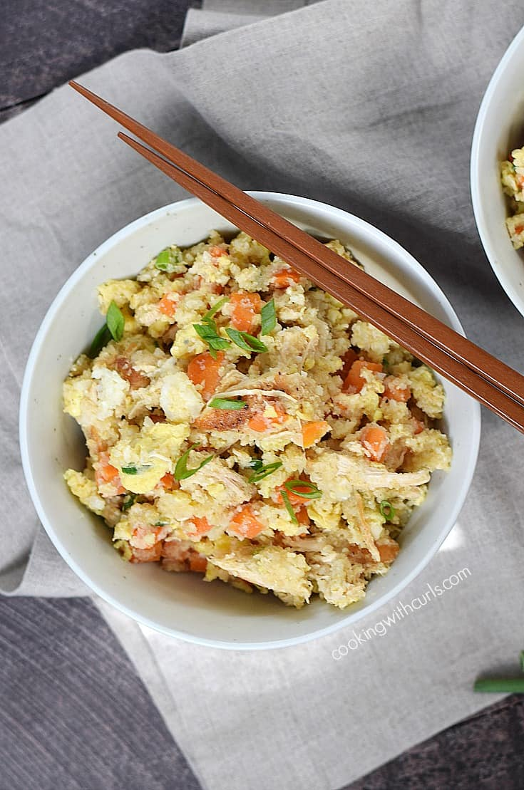 An easy Chicken Fried Rice recipe that is worth skipping the takeout for | cookingwithcurls.com