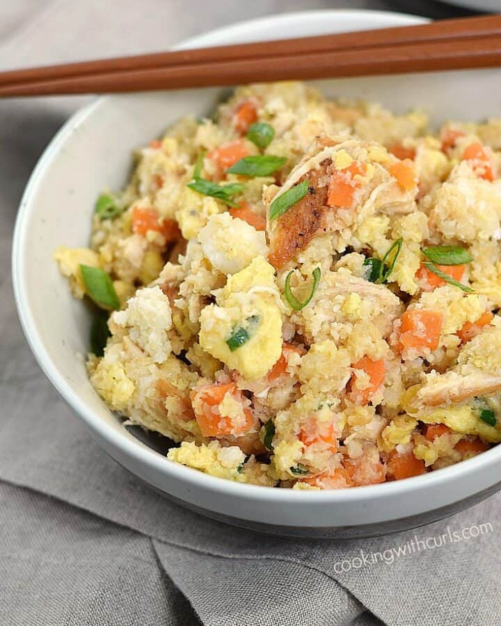 Chicken Fried Rice that is better than takeout and much healthier since you can adjust the ingredients to fit your dietary needs! cookingwithcurls.com