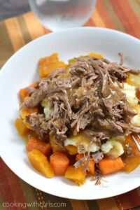 Simple Pot Roast with Carrots and Squash