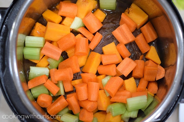 Simple Pot Roast with Carrots and Squash veggies cookingwithcurls.com