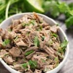 Taco Tuesdays just got more delicious with this easy to make Mexican Style Shredded Beef {Instant Pot} recipe for the perfect taco filling! cookingwithcurls.com