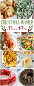 We have your entire Christmas Dinner Meal Plan figured out for you so you don't have to stress out this holiday season | cookingwithcurls.com