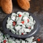 Max and everyone in Who-ville will love this Grinch Puppy Chow during the holidays | cookingwithcurls.com