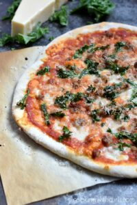 Sausage and Kale Pizza   cookingwithcurls.com