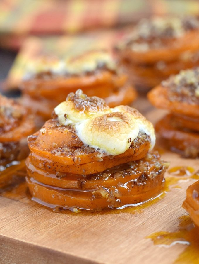 These Candied Sweet Potato Stacks are guaranteed to impress your guest with their delicious flavor and unique twist on a holiday favorite   cookingwithcurls.com