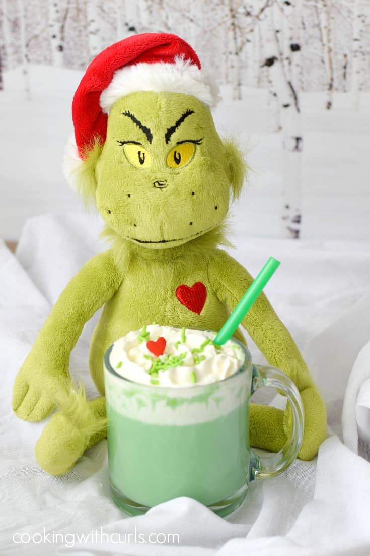Warm up this holiday season with your choice of Naughty or Nice Grinch Hot Chocolate | cookingwithcurls.com
