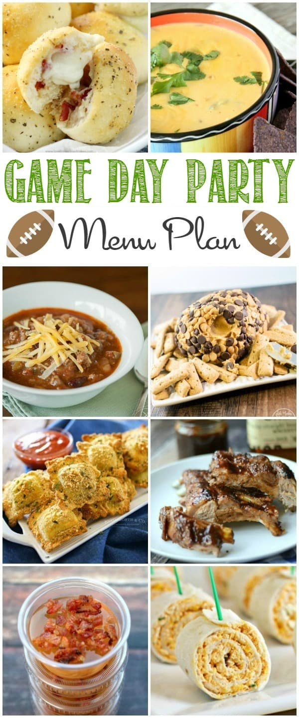 Game Day Menu Plan | cookingwithcurls.com