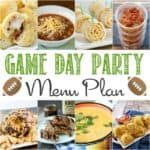 Game Day Party Menu