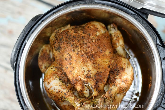 Instant Pot Faux-tisserie Chicken done cookingwithcurls.com