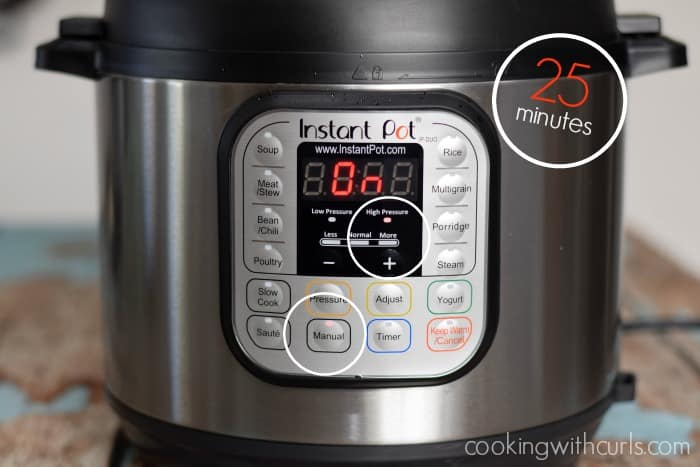Instant Pot Faux-tisserie Chicken timer cookingwithcurls.com
