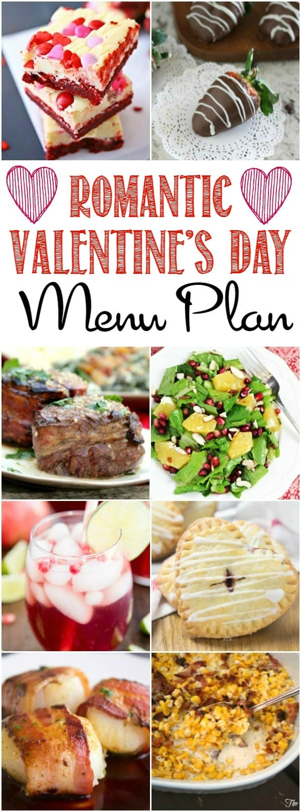 Create the perfect meal with the help of this Romantic Valentine's Day Menu Plan | cookingwithcurls.com